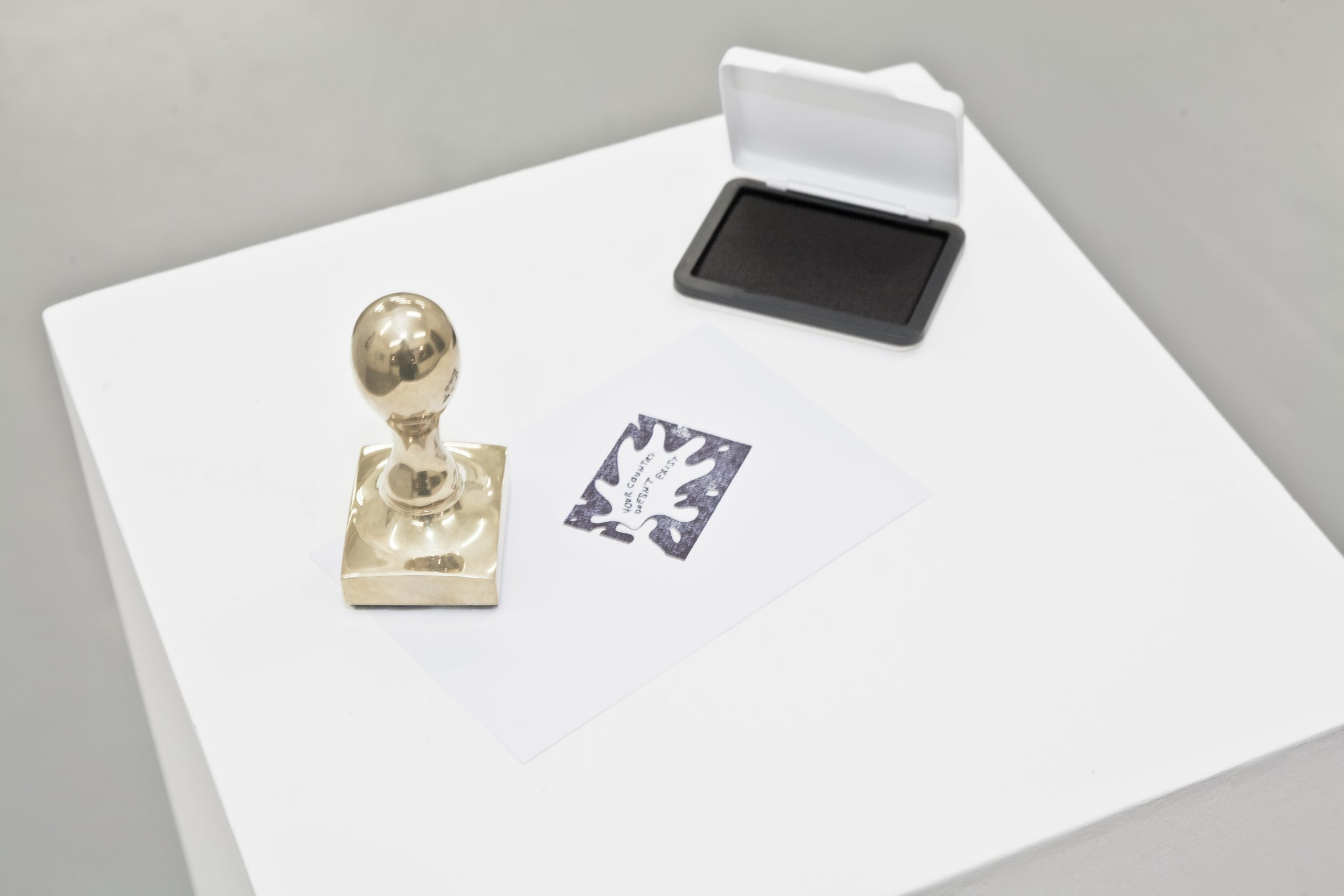Libia Castro and Ólafur Ólafsson, Your Country Doesn't Exist (copper stamp), 2013